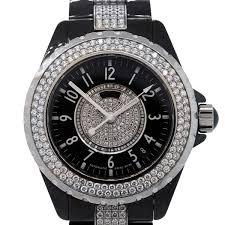 chanel j12 black ceramic diamond watch diamond chanel j12 watch