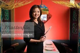 Restaurant Hostess Hostess In A Chinese Restaurant Stock Photo Masterfile