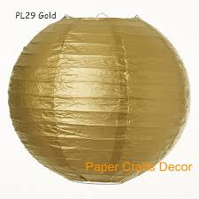 16inch 40cm 8pcs lot gold large round chinese hanging paper lanterns indoor outdoor wedding party event decorations