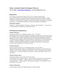 Nice Graphic Designer Resume Sample With Education And