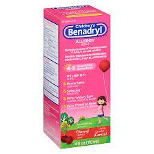 Benadryl Childrens Allergy Liquid Cherry