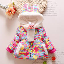 cute rabbit baby winter jacket thick cotton padded baby girl outerwear infant boys parka toddler girls snow wear coat boys down coat toddler down jacket