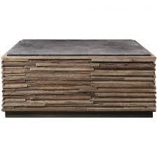 bluestone coffee table. Bluestone Top Wood Stave Coffee Table