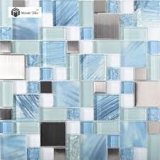 tst glass metal tile sea blue green white kitchen bath backsplash mosaic tstmgb028 p