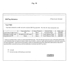 patent us20050234820 system and method for bill pay credit patent drawing