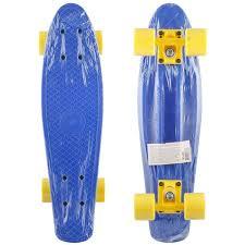 Пластиковый <b>скейтборд SHENZHEN</b> TOYS Sky blue - купить по ...