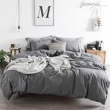 grey duvet cover set modern bedding queen duvet cover sheet set solid bedding sheet pillowcase king size teenage boy duvet for king duvet cover set