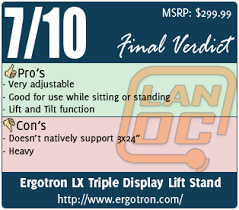 Ergotron Lx Triple Display Lift Stand Review Overall Page 100 LanOC Reviews 85