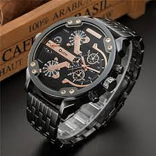 Oulm Men's Sport <b>Watch</b> Military <b>Watch</b> Wrist <b>Watch</b> Stainless Steel ...