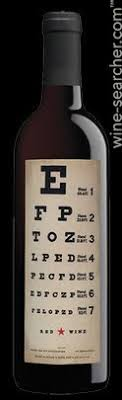 Wine With Eye Chart Label Eye Chart Wines Red California Usa