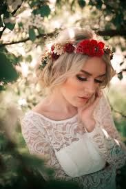 červeno Zlatý Květinový Věneček Zboží Prodejce čarbičková Bijoux