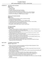 Water Resource Engineer Sample Resume Water Engineer Resume Samples Velvet Jobs 20