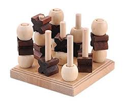 Wooden Naughts And Crosses Game Noughts and Crosses Classic 100D Noughts and CrossesJaques of 40