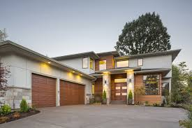 contemporary style homes usually have flat gabled or shed roofs asymmetrical shapes and open floor plans