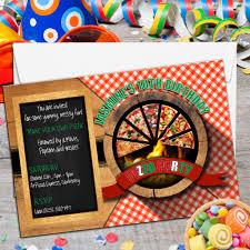 Make Birthday Party Invitations 10 Personalised Make Your Own Pizza Birthday Party Invitations N2