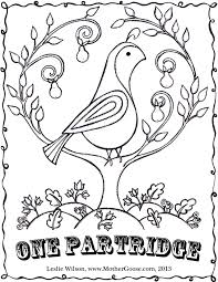 Small Picture Twelve Days of Christmas Coloring Pages