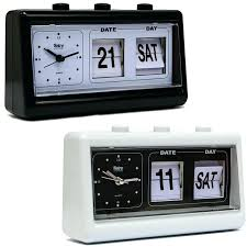 retro digital alarm clock vintage retro quartz alarm clock flip date day time display black white retro digital alarm clock