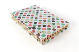 Coptic Stitched Hardcover Polkadot Notebook With Multi Colored Etsy