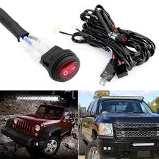 12v 40a relay switch control wiring harness kit for off road atv 300w off road atv jeep led light bar wiring harness relay on off switch 10ft 14awg