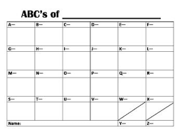 Blank Abc Chart Red Stick Teaching Materials Abc Chart