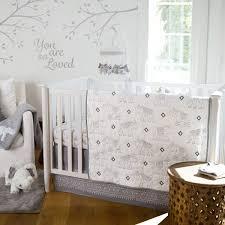 levtex baby elephant parade 5 piece crib bedding set grey white