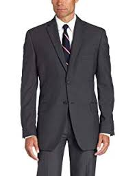 Haggar Mens Stripe Two Button Center Vent Suit Separate
