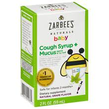 ZarBee's Naturals <b>Baby Cough Syrup</b> + Mucus Reducer Grape ...