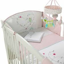 light green pink baby bedding set