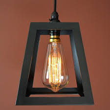 ecklands wrought iron pendant light in natural black finish with discontinued squirrel cage bulb additional cable can be
