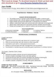 Waitressing Resume Here Is Download Link For This Sample Waitress Resume