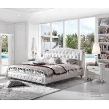 Luxury Bedroom Fantastic Furniture Hand Tufted Crystal Diamond Studded  Genuine Real Leather Bed