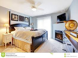 Master Bedroom Fireplace Master Bedroom With Fireplace And Tv Stock Photo Image 44675682