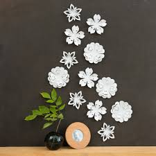 flower wall decor on 3d white flower wall art with flower wall decor imageweb fo