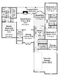 country floor plan 3 bedrms, 2 baths 1898 sq ft 141 1029 House Plans With 2 Story Great Room home plan 141 1029 floor plan first story home plans with 2 story great room