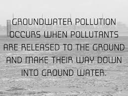 Image result for polluting groundwater