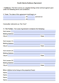 Download South Dakota Rental Lease Agreement Forms And Templates ...