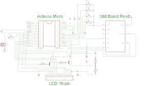 gmx the circuit diagram for gmx depicting how the geiger counter board is connected to the arduino along other peripherals