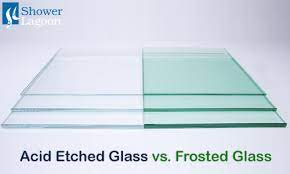 difference between etched and frosted glass
