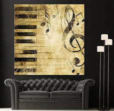 image is loading black white piano keys music note canvas home  on yellow wall art ebay with black white piano keys music note canvas home fine wall art prints