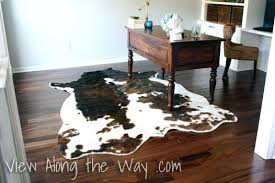 on using a real or cowhide rug in home office synthetic faux cow grey fur kmart