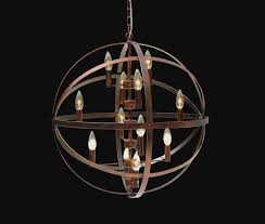 12 light orb chandelier