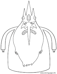 Small Picture ice king from adventure time cartoon Coloring pages Printable