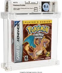 Pokemon FireRed (Player's Choice) - Wata 9.4 A++ Sealed, GBA | Lot #97071