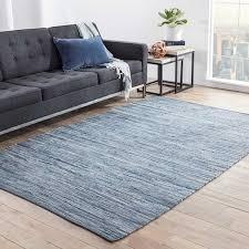contemporary rug havenside home bandon handmade solid blue area rug to