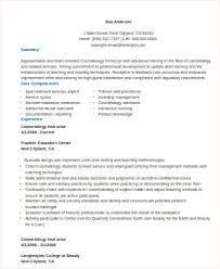 cosmetologist instructor resume example resume for cosmetologist