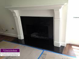 fireplace surround and hearth black caesarstone quartz