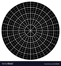 Blank Polar Graph Paper Protractor Pie Chart Vector Image