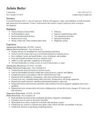 Electrician Apprentice Resume Samples 6 Best Gallery Of Electrician Apprentice Resume Examples