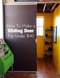 diy home decor how to make a sliding door for under 40 apartment wall parion sliding door and doors