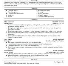 Shift Incharge Resume Sample